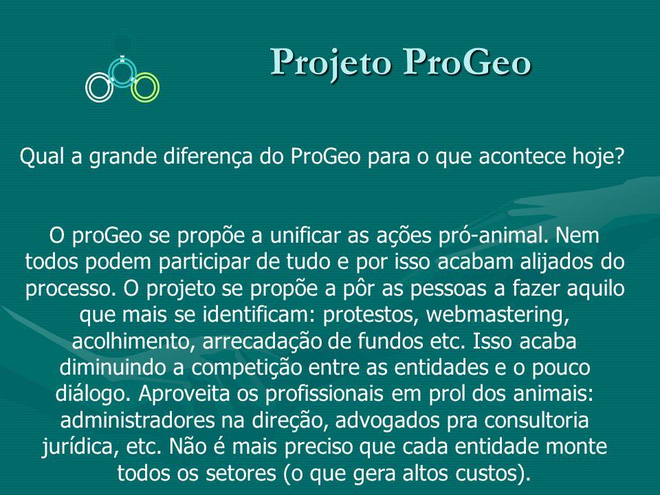 Projeto ProGeo Qual a grande diferença do ProGeo para o que acontece hoje