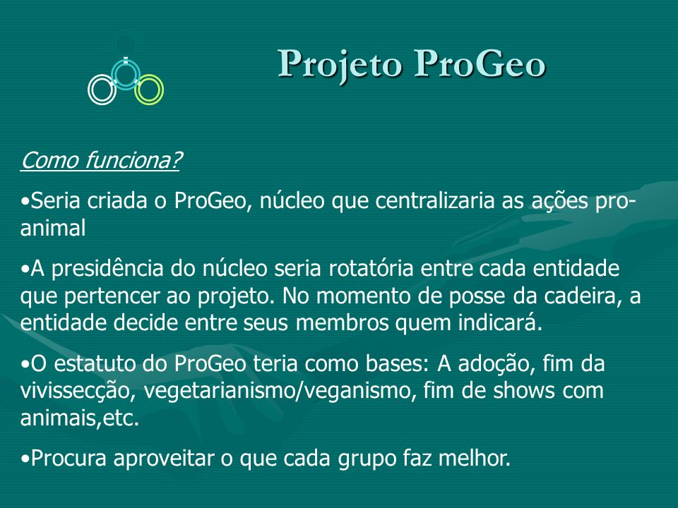 Projeto ProGeo Como funciona