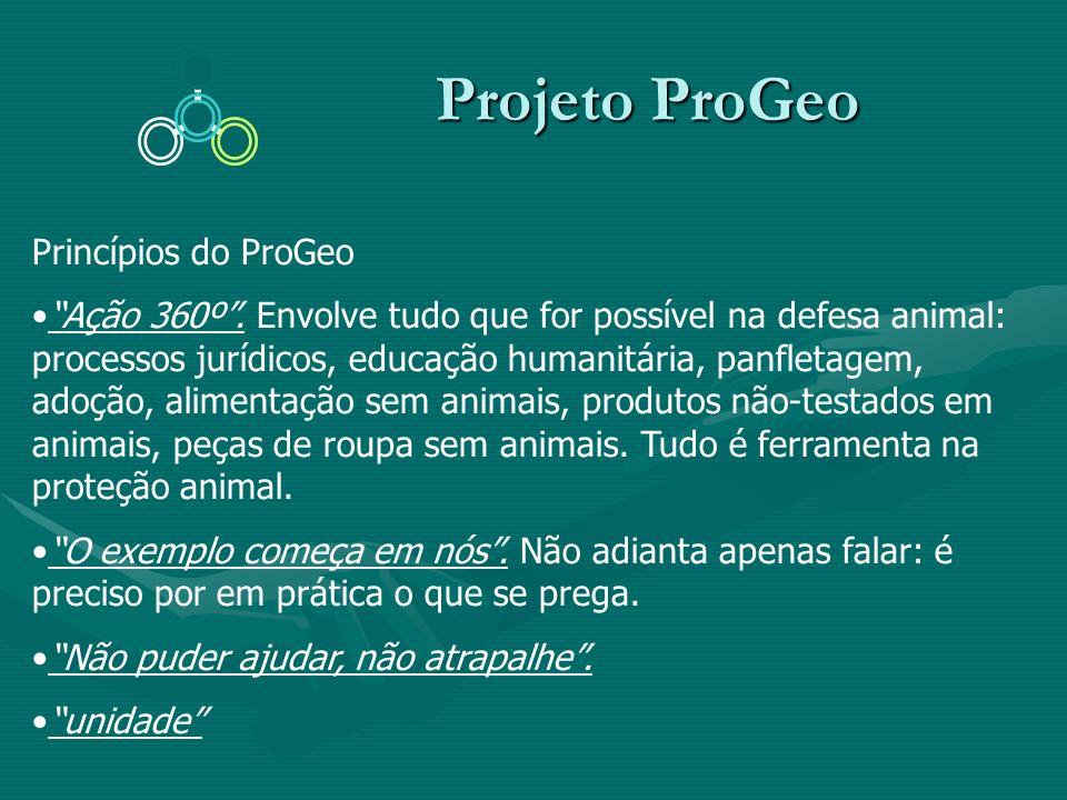 Projeto ProGeo Princípios do ProGeo