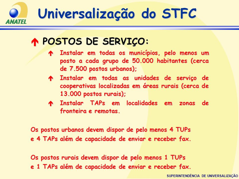 Universalização do STFC