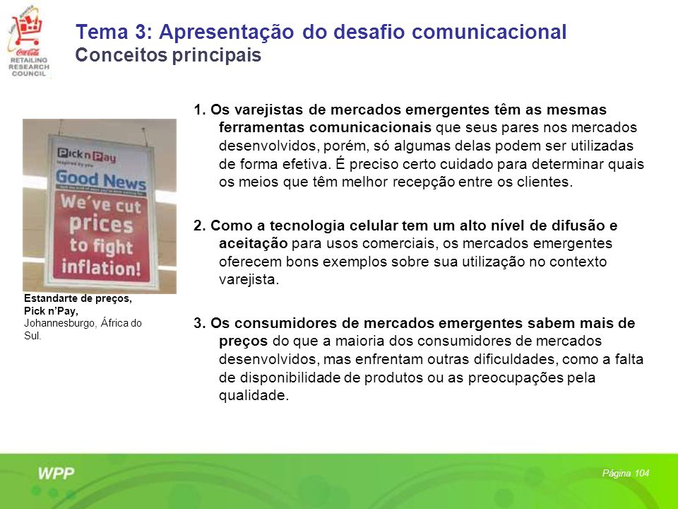 Tema 3: Apresentação do desafio comunicacional Conceitos principais