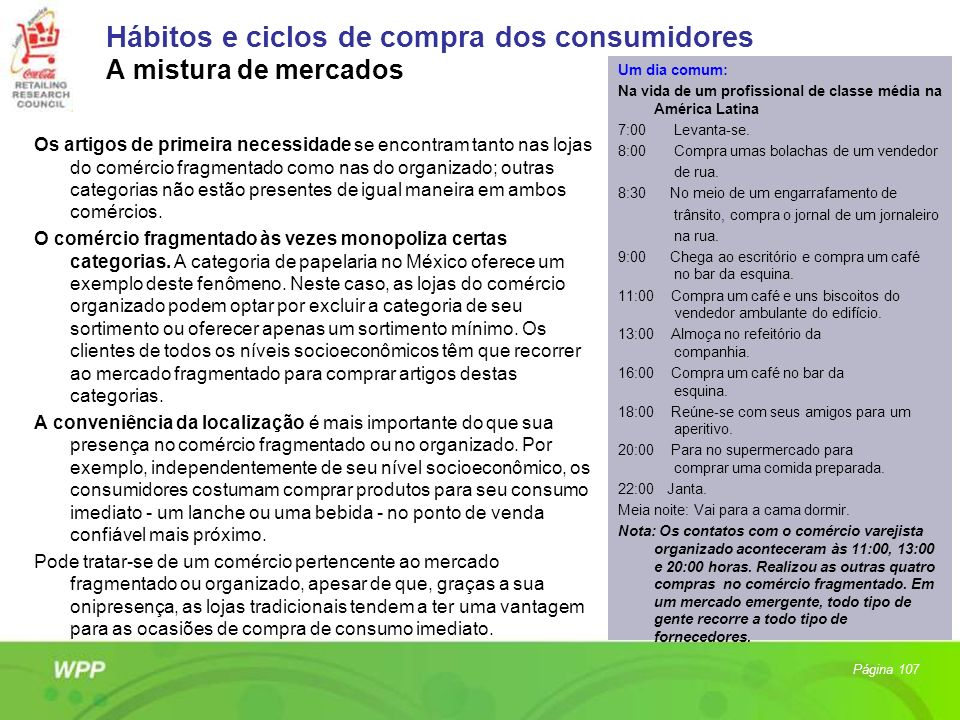 Hábitos e ciclos de compra dos consumidores A mistura de mercados
