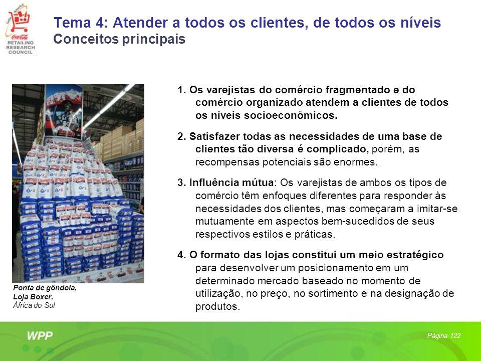 Tema 4: Atender a todos os clientes, de todos os níveis Conceitos principais