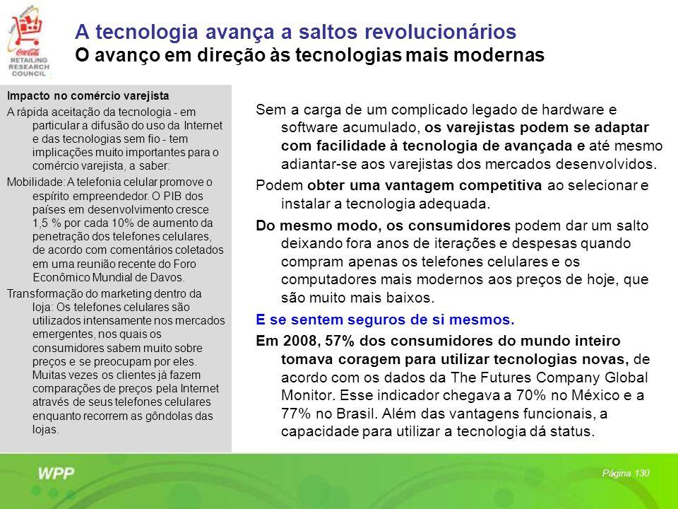 A tecnologia avança a saltos revolucionários O avanço em direção às tecnologias mais modernas