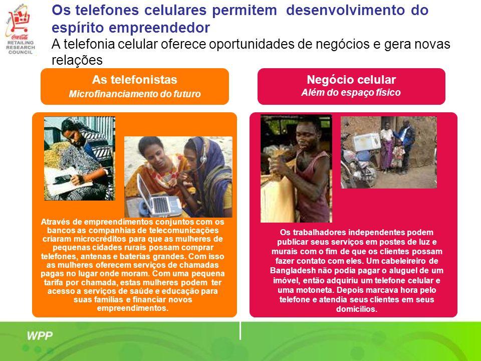 As telefonistas Microfinanciamento do futuro