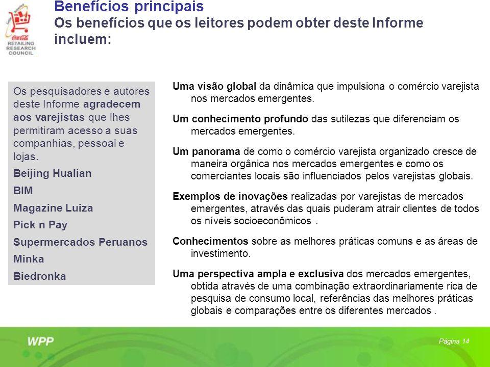 Benefícios principais Os benefícios que os leitores podem obter deste Informe incluem: