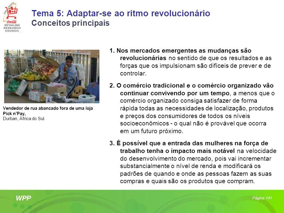 Tema 5: Adaptar-se ao ritmo revolucionário Conceitos principais