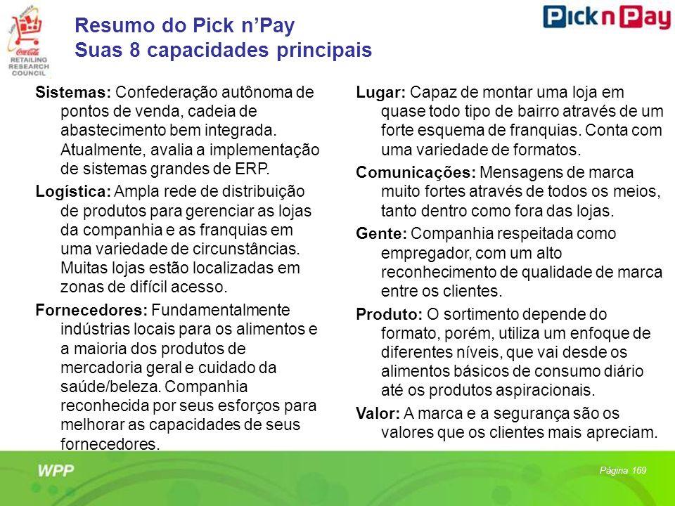 Resumo do Pick n'Pay Suas 8 capacidades principais