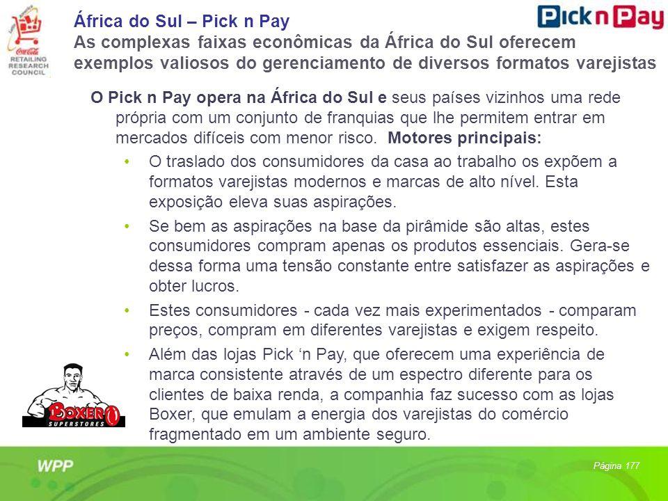 África do Sul – Pick n Pay As complexas faixas econômicas da África do Sul oferecem exemplos valiosos do gerenciamento de diversos formatos varejistas