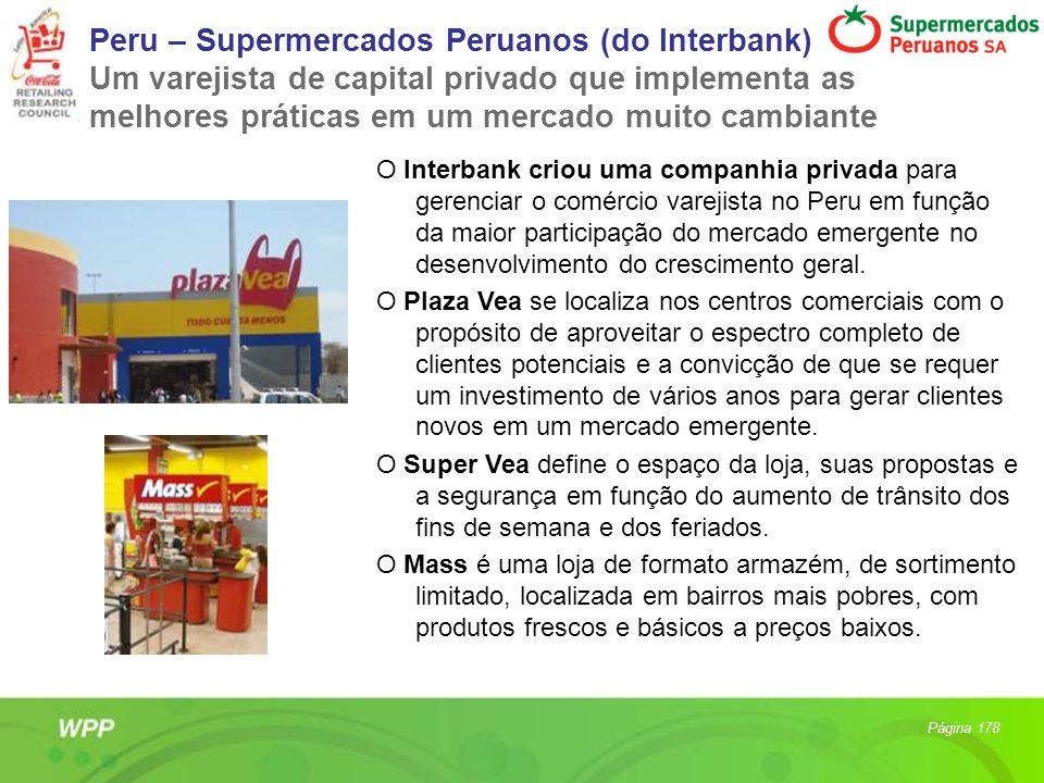 Peru – Supermercados Peruanos (do Interbank) Um varejista de capital privado que implementa as melhores práticas em um mercado muito cambiante