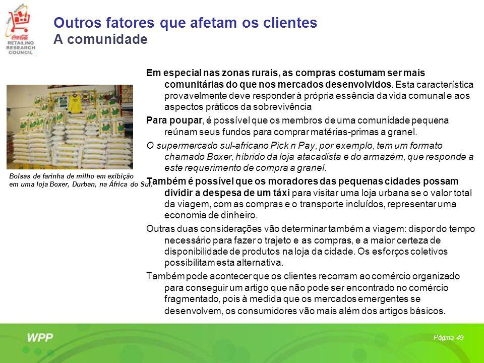 Outros fatores que afetam os clientes A comunidade
