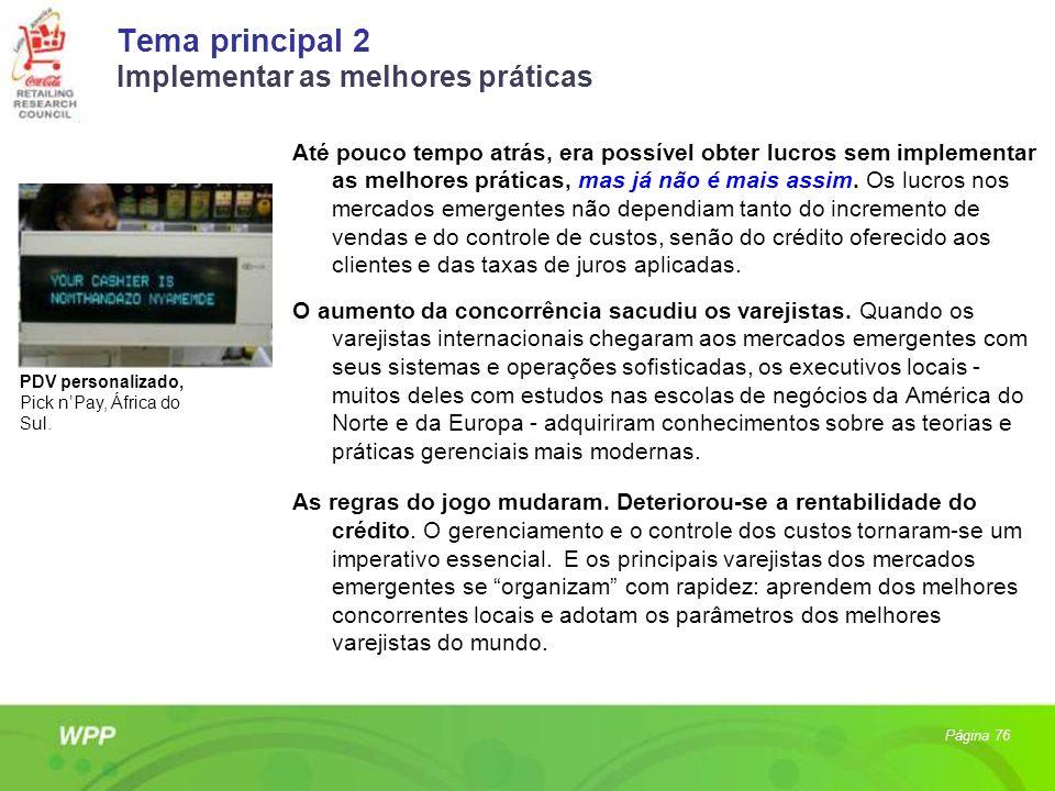 Tema principal 2 Implementar as melhores práticas