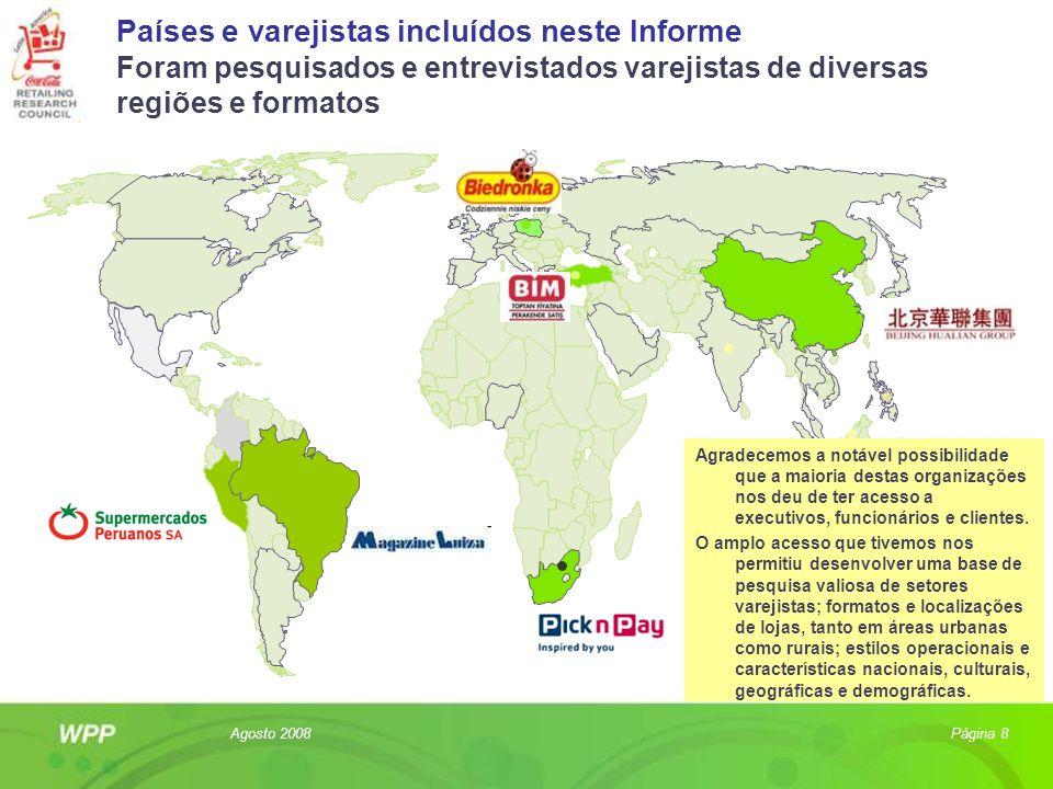 Países e varejistas incluídos neste Informe