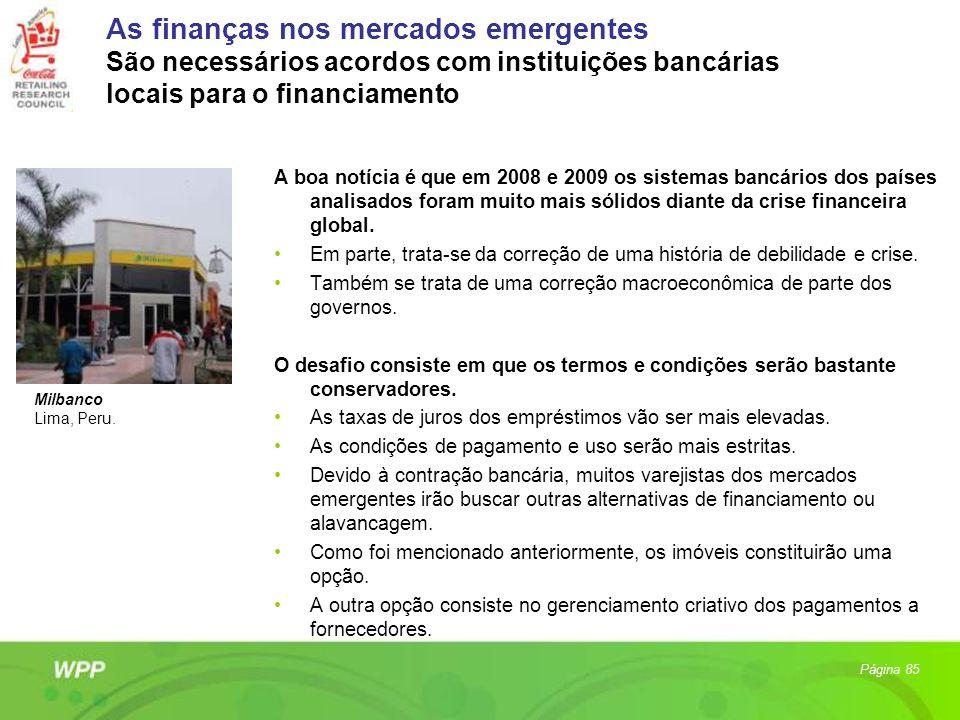 As finanças nos mercados emergentes São necessários acordos com instituições bancárias locais para o financiamento