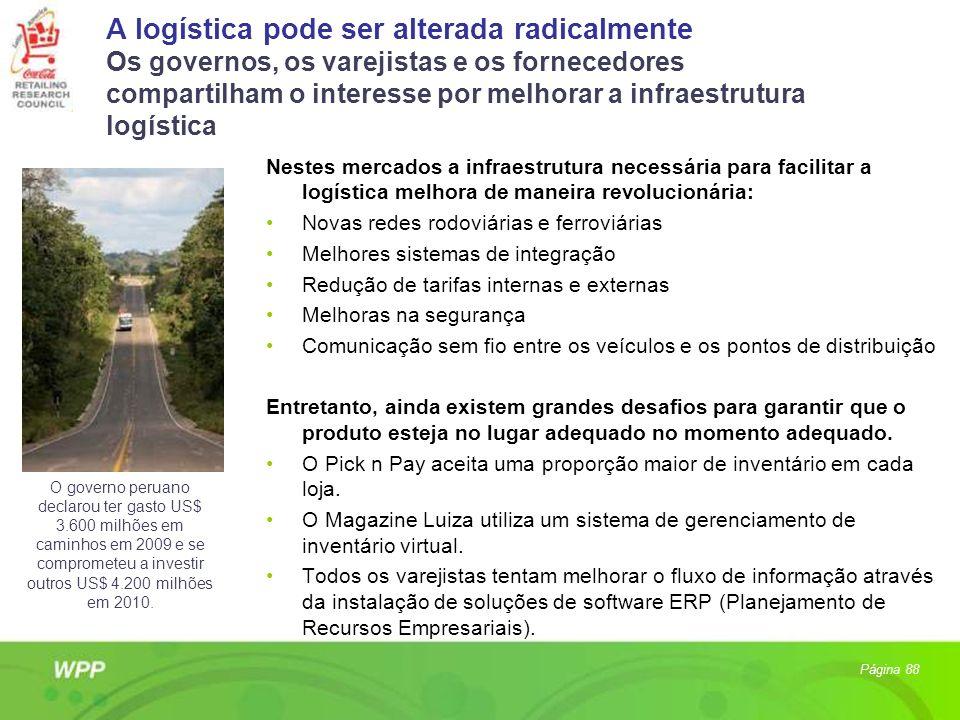 A logística pode ser alterada radicalmente Os governos, os varejistas e os fornecedores compartilham o interesse por melhorar a infraestrutura logística
