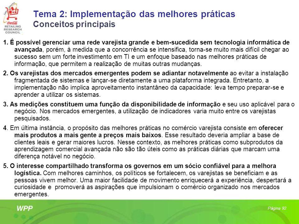 Tema 2: Implementação das melhores práticas Conceitos principais