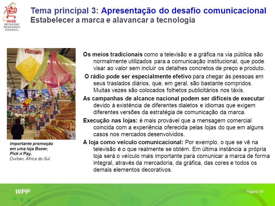 Tema principal 3: Apresentação do desafio comunicacional Estabelecer a marca e alavancar a tecnologia