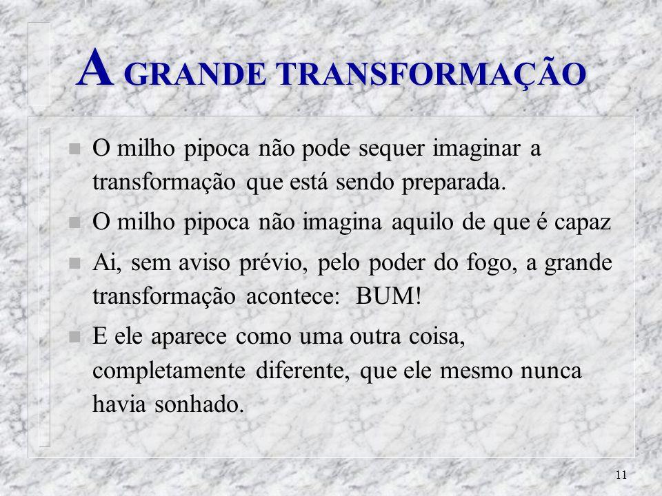 A GRANDE TRANSFORMAÇÃO