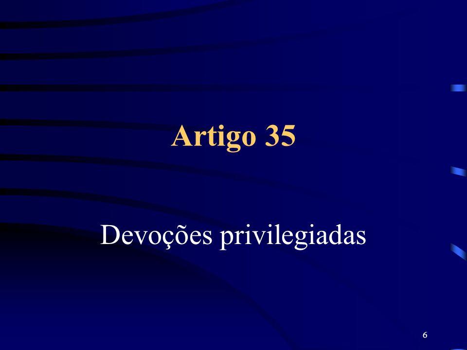 Devoções privilegiadas