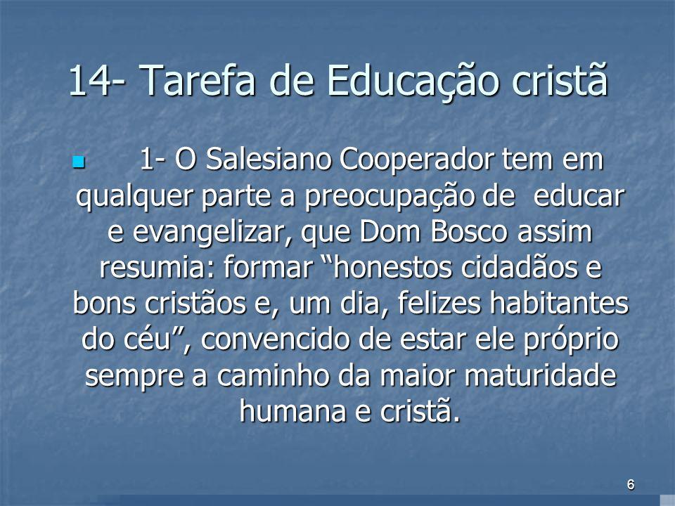 14- Tarefa de Educação cristã
