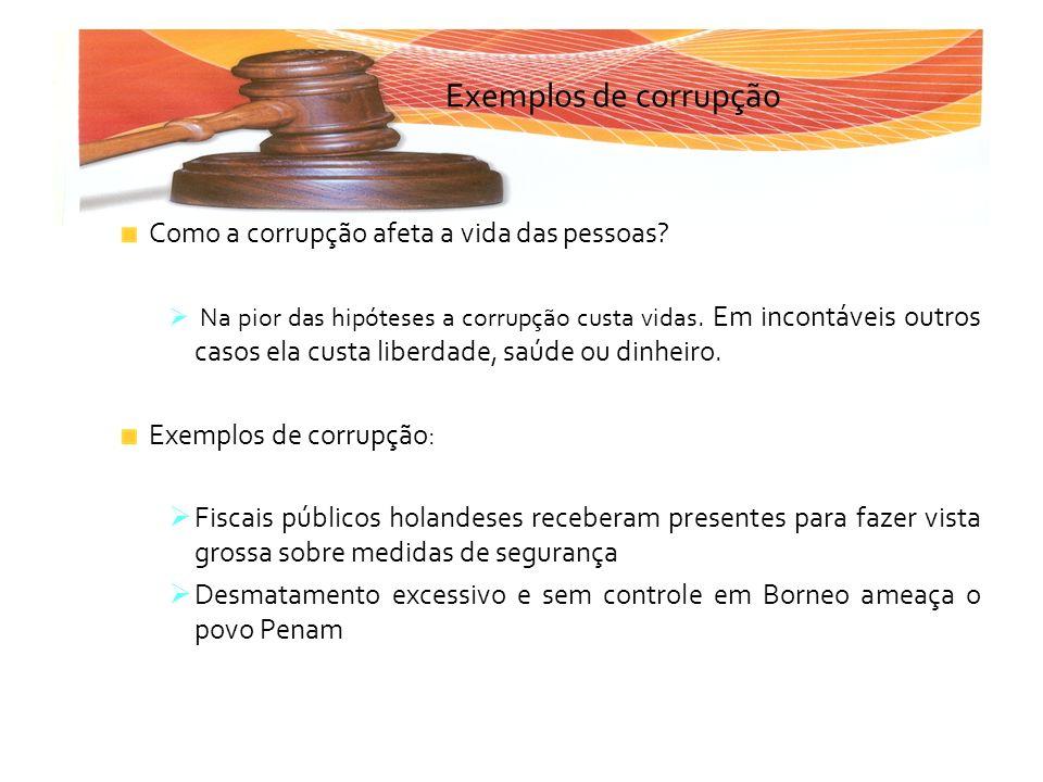 Exemplos de corrupção Como a corrupção afeta a vida das pessoas