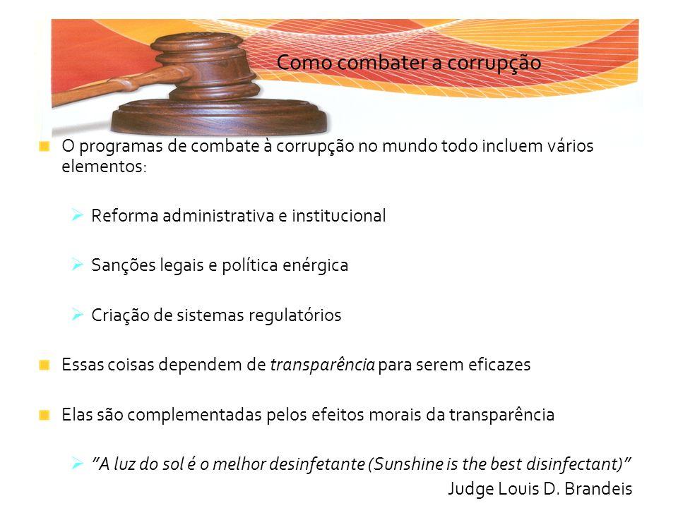 Como combater a corrupção