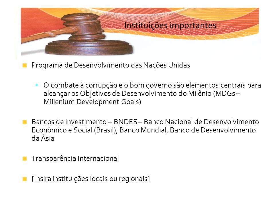 Instituições importantes