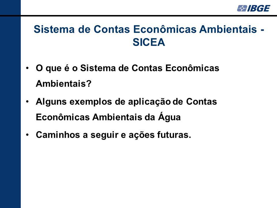 Sistema de Contas Econômicas Ambientais - SICEA