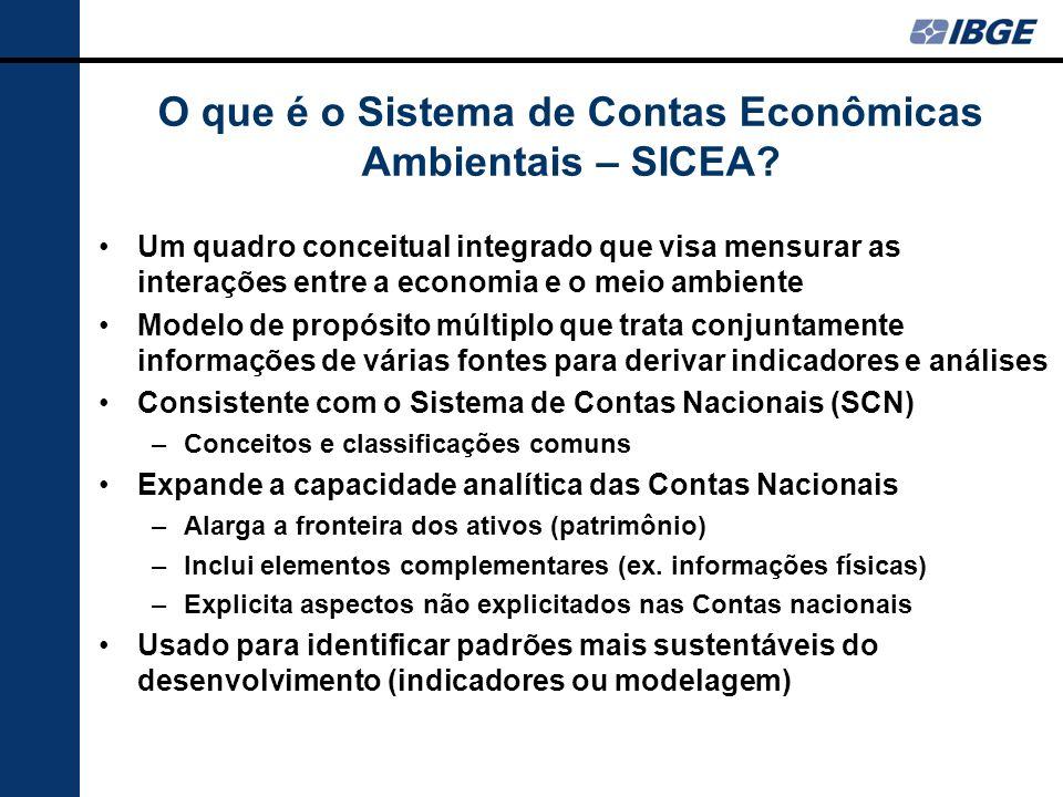 O que é o Sistema de Contas Econômicas Ambientais – SICEA