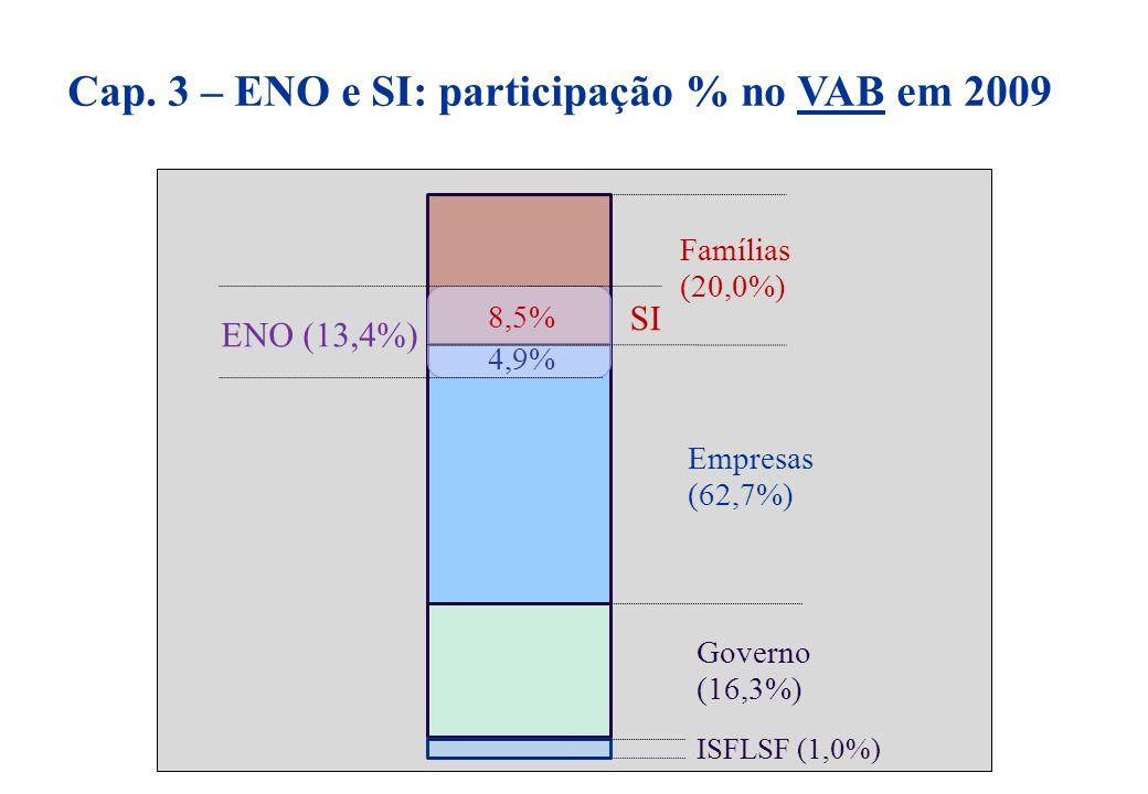 Cap. 3 – ENO e SI: participação % no VAB em 2009