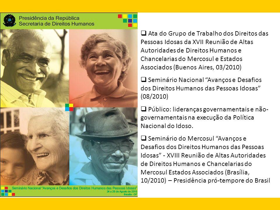 Ata do Grupo de Trabalho dos Direitos das Pessoas Idosas da XVII Reunião de Altas Autoridades de Direitos Humanos e Chancelarias do Mercosul e Estados Associados (Buenos Aires, 03/2010)
