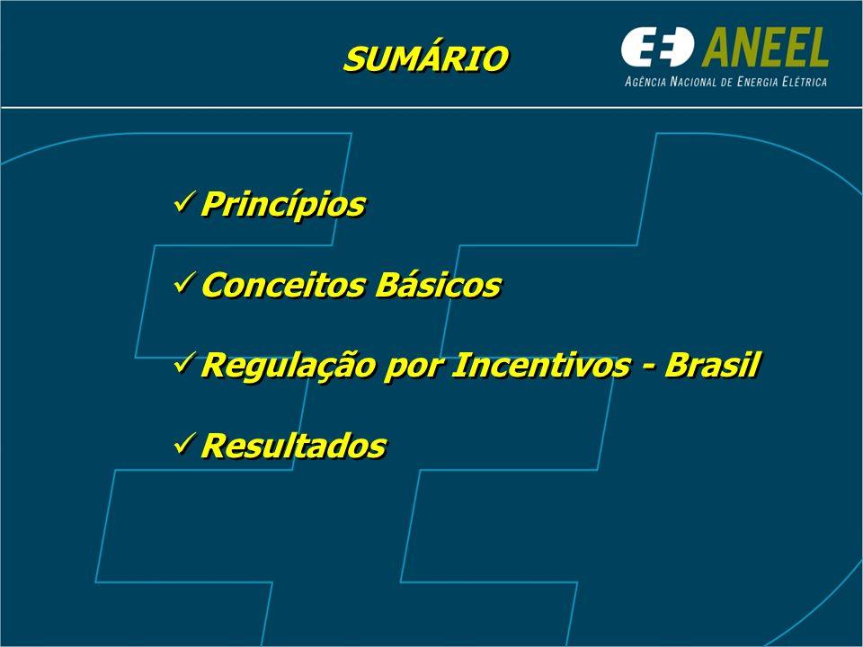 SUMÁRIO Princípios Conceitos Básicos Regulação por Incentivos - Brasil Resultados