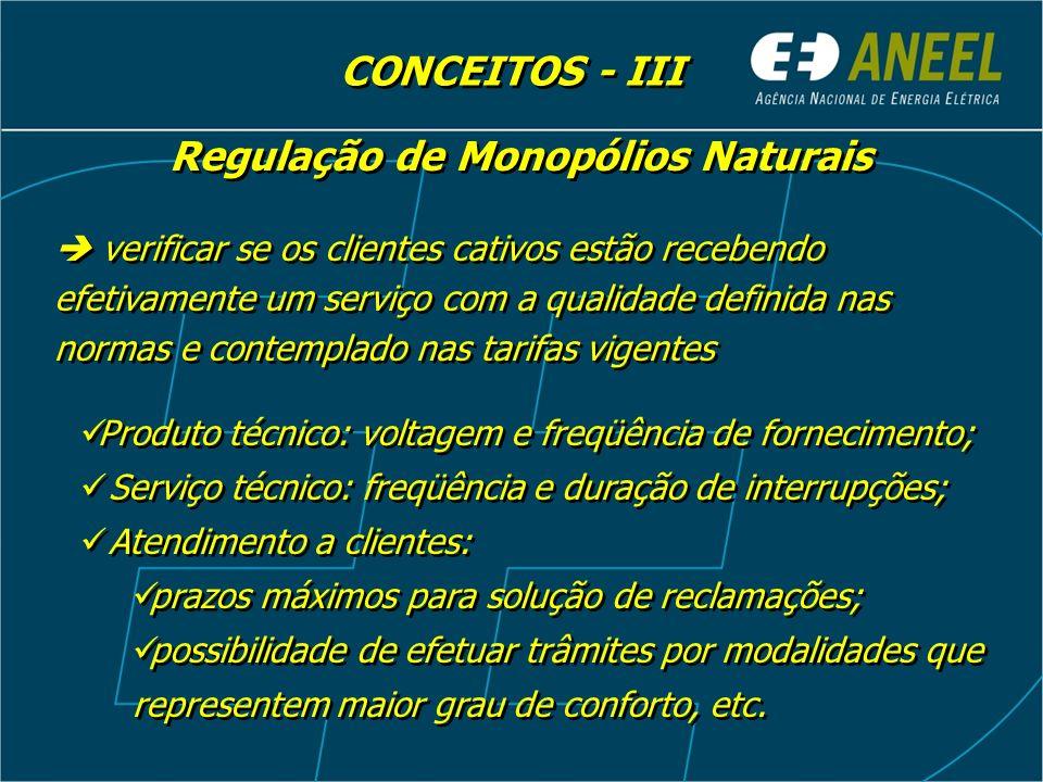 Regulação de Monopólios Naturais