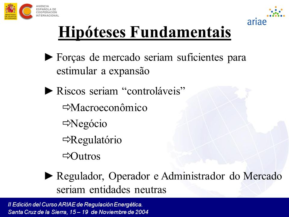 Hipóteses Fundamentais