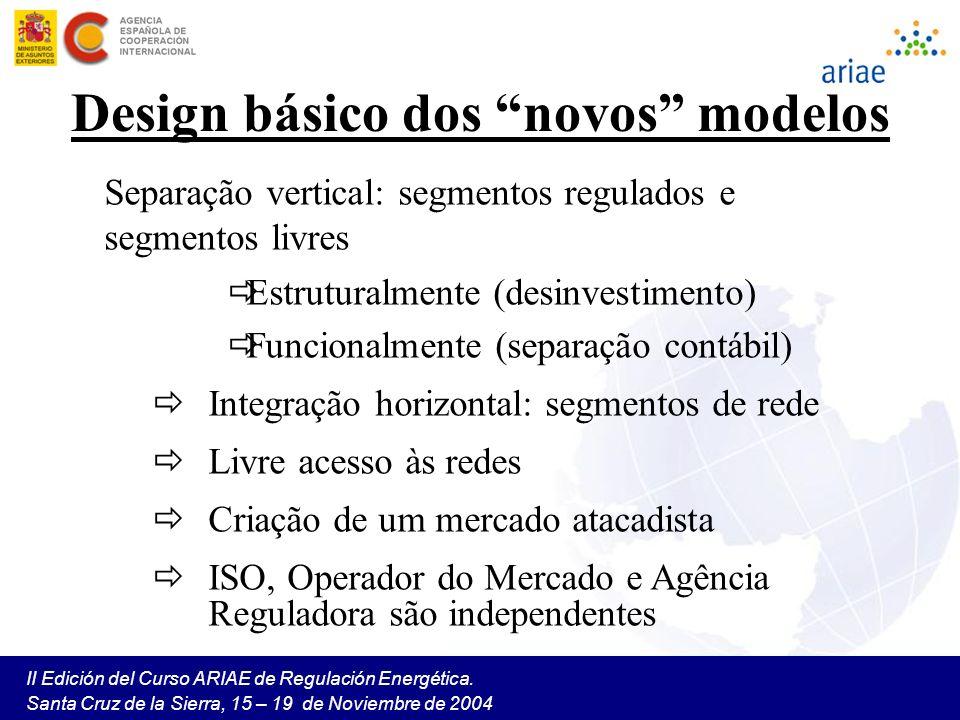 Design básico dos novos modelos