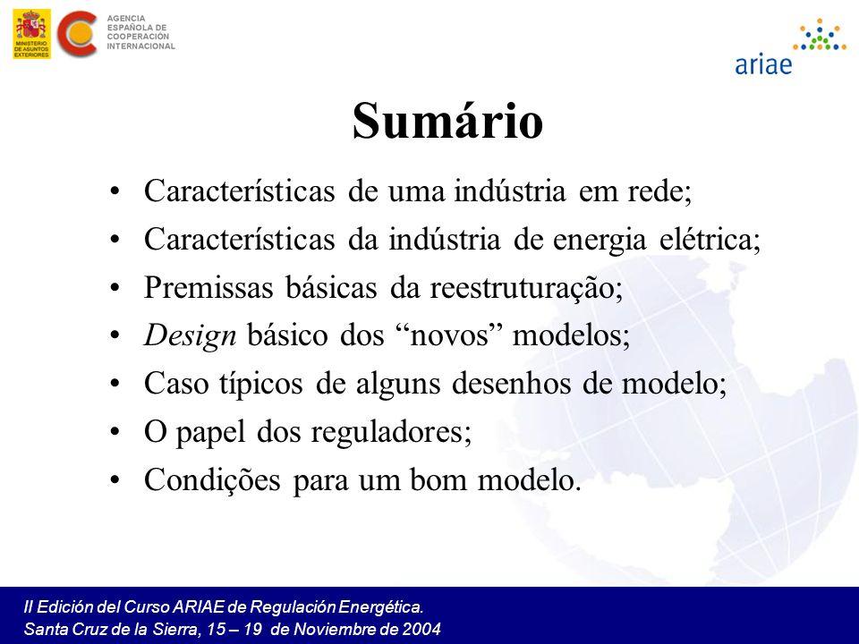 Sumário Características de uma indústria em rede;