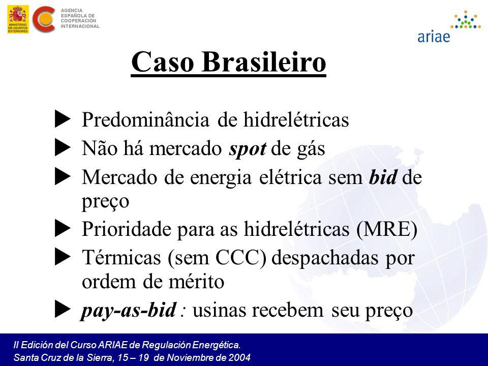Caso Brasileiro Predominância de hidrelétricas