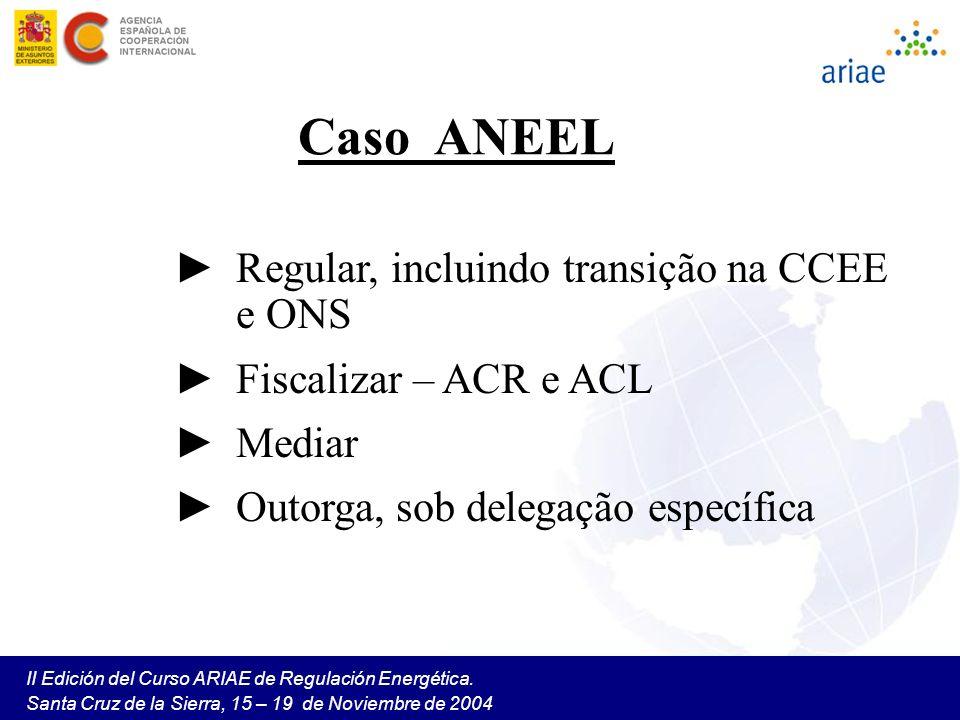 Caso ANEEL Regular, incluindo transição na CCEE e ONS