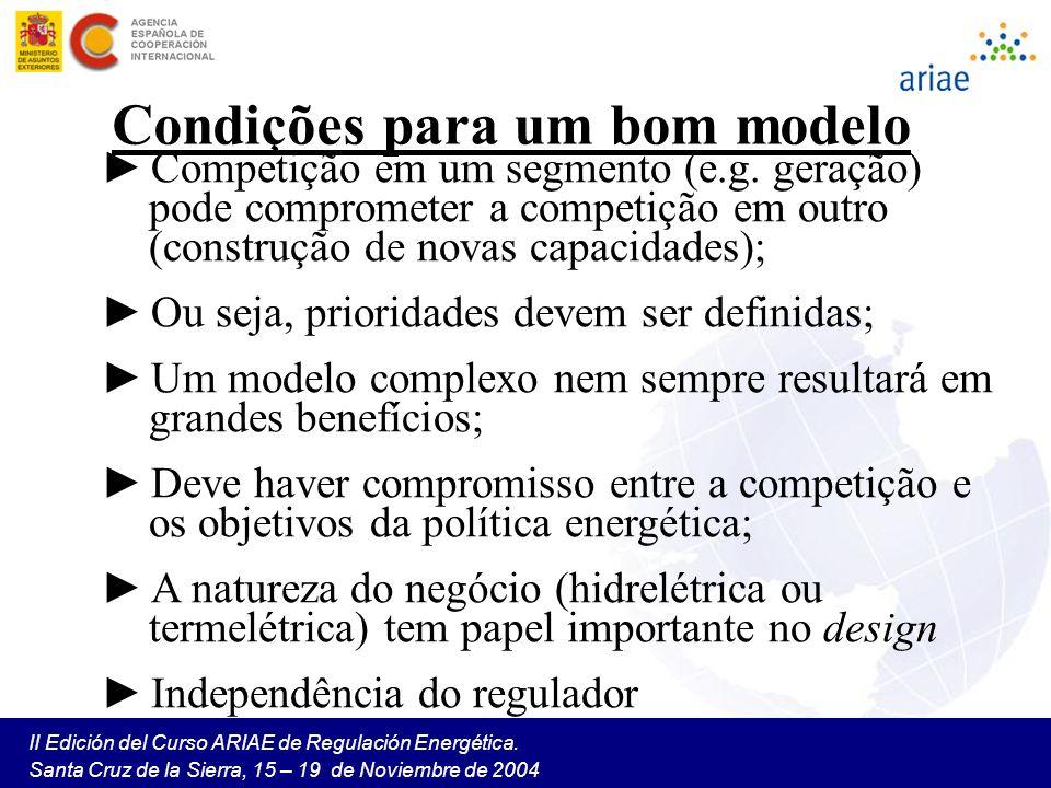 Condições para um bom modelo