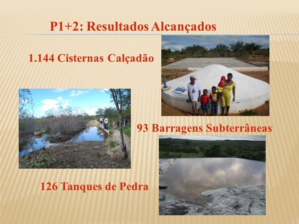 P1+2: Resultados Alcançados 93 Barragens Subterrâneas