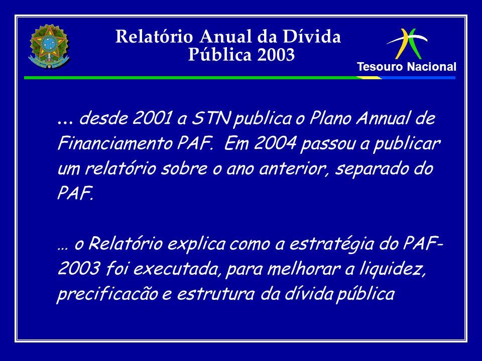 Relatório Anual da Dívida Pública 2003