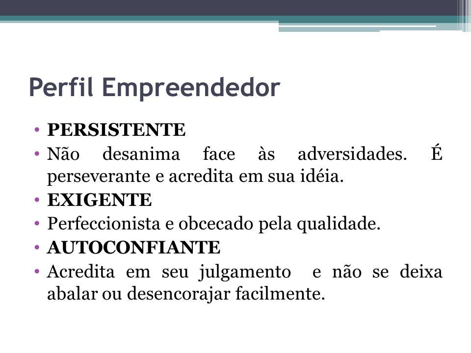 Perfil Empreendedor PERSISTENTE