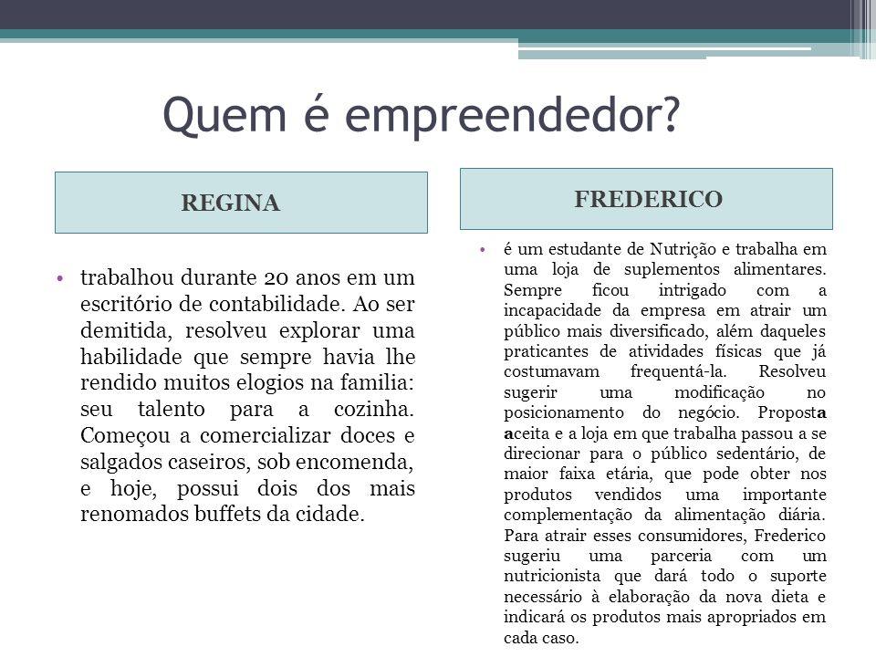 Quem é empreendedor FREDERICO REGINA