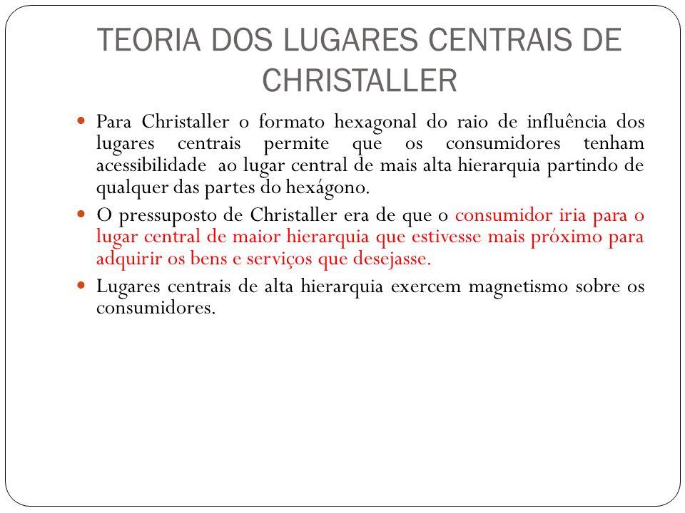 TEORIA DOS LUGARES CENTRAIS DE CHRISTALLER