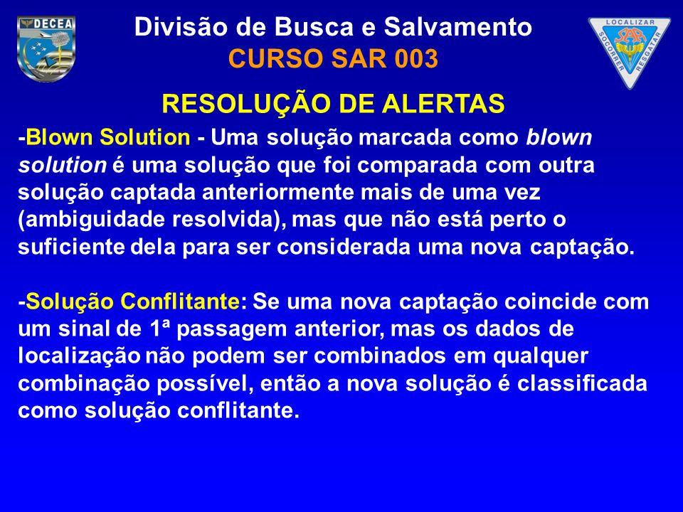 RESOLUÇÃO DE ALERTAS