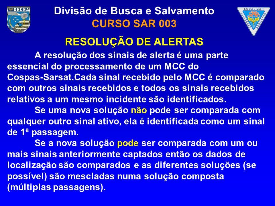 RESOLUÇÃO DE ALERTAS A resolução dos sinais de alerta é uma parte essencial do processamento de um MCC do.