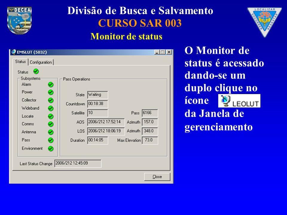 O Monitor de status é acessado dando-se um duplo clique no ícone