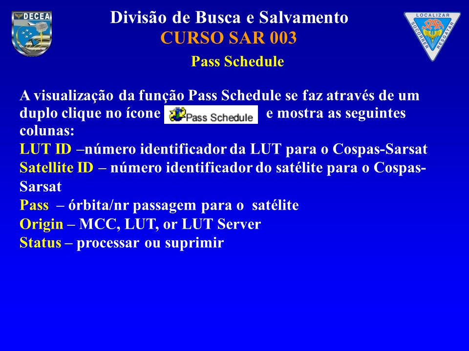 Pass Schedule