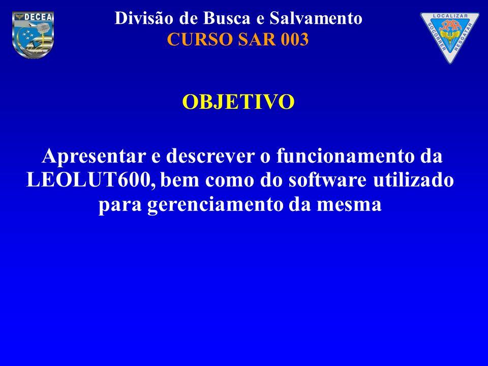 OBJETIVO Apresentar e descrever o funcionamento da LEOLUT600, bem como do software utilizado para gerenciamento da mesma.