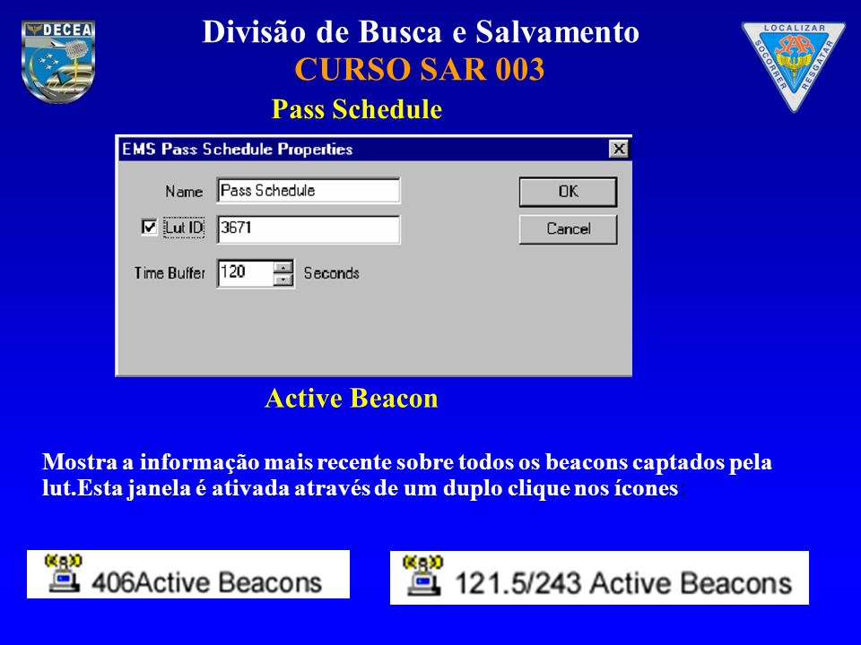 Pass Schedule Active Beacon